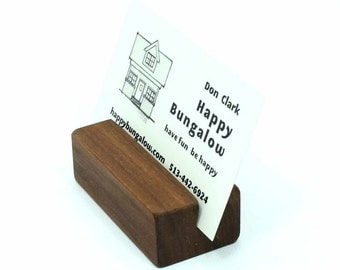 Business Card Holder, Wooden Card Holder, Wood Business Card Holder, Business Card Holder for Desk, Business Card Stand, Photo Holder