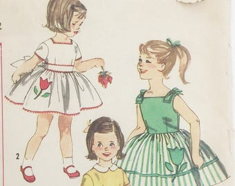 Simplicity pattern 3531: Out of print sewing pattern, vintage Simplicity pattern, easy girls dress pattern, Child Size 2 party dress