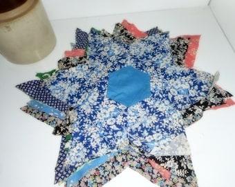 Quilt Stars, Vintage Quilt Stars, Quilt Blocks, Quilt Pieces, Antique Quilt Fabric