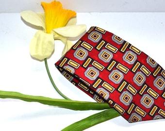 Vintage 90s Designer Martin Wong Napa, CA silk tie  Men's Necktie High Fashion wedding Father's Day  gift for him
