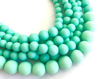 Turquoise Statement Necklace, Chunky Turquoise Necklace, Beaded Turquoise Necklace, Bridesmaid Necklace, Multi Strand Necklace