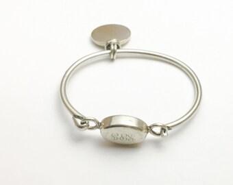 Sterling Silver cuff Bracelet, Vintage  Silver, SPJ monogram, stamped .925, Clearance Sale, Item No. E205