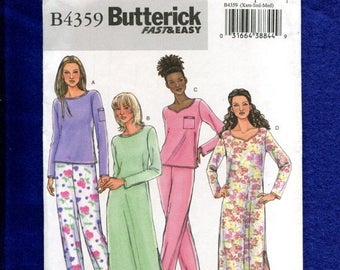 15% OFF SPRING SALE Butterick 4359 Super Comfy Tee Nightshirts & Pajamas Pattern Size Xs..S..M Uncut