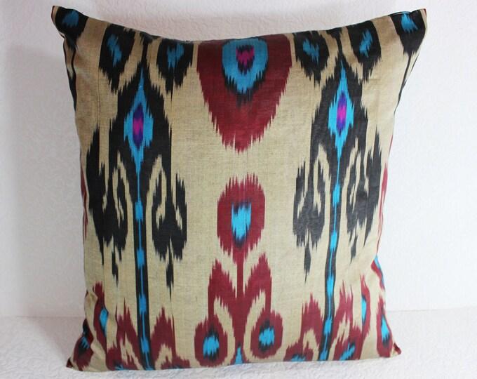 Ikat Pillow, Handmade Ikat Pillow Cover  S118, Ikat throw pillows, Designer pillows, Decorative pillows, Accent pillows