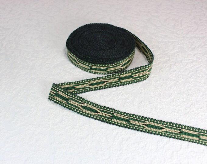 Woven Trim (6 yards), Woven Border, Cotton Ribbon, Grosgrain Ribbon, Dress Border, Border Trim, R170