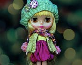 DOWN TOWN KID Ooak Set By Odd Princess Atelier, Hand Knitted Collection