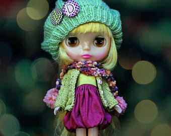 DOWN TOWN KID Scarf For Blythe/Pullip/Bjd By Odd Princess Atelier, Hand Knitted Collection