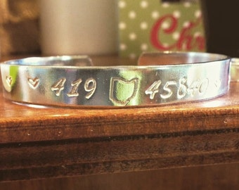 Home Cuff Bracelet Tennessee or Ohio