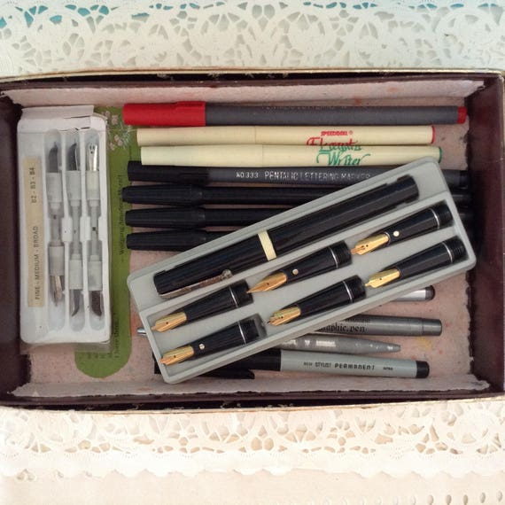 Osmiroid Pen Set Calligraphy Pens Pen Holder And 6
