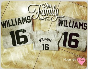 Matching Family Baby Announcement Shirts - Great gift for expecting parents - New addition to family - Dad - Mom - Baby - Vinyl NOT Paint