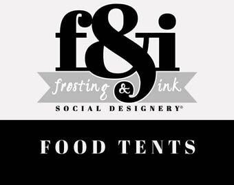Food Tents | Buffet Labels | Printable Food Tents | A la Carte Food Tents | Frosting & Ink
