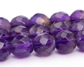 """4MM Amethyst Beads Grade AA Natural Gemstone Full Strand Faceted Round Loose Beads 15"""" BULK LOT 1,3,5,10 and 50 (100849-325)"""