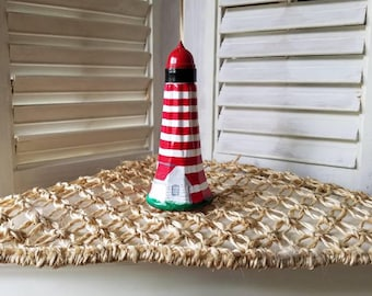 West Quoddy lighthouse, vintage, salt and pepper shaker, lighthouse, table setting, shaker