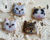 12 mm of Rose Gold Cat Charm Finding / pendant (.u)