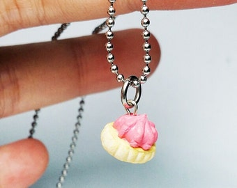Iced gem biscuit charm Necklace