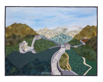 The Great Wall - mixed media landscape, China