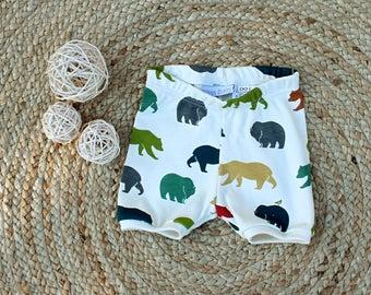 organic baby toddler shorts sizes 000 to 2 bear shorts