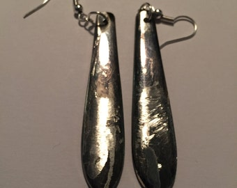 Silver plated spoon earrings #3