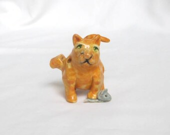 Cat and Mouse Clay Whistle