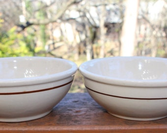 Small American made pottery bowls