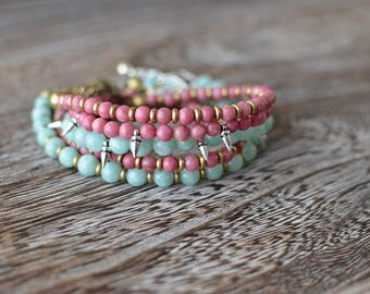 Boho Bracelets with spike or brass