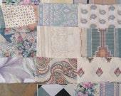 88 QUILT SQUARES 8x8 Soft florals Southwest Taupe Cream Rose Mint Cotton