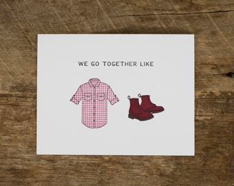 Flannel and Boots Card