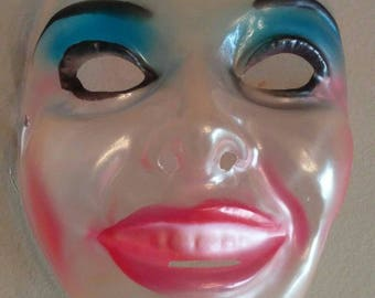 Vintage lady Halloween mask
