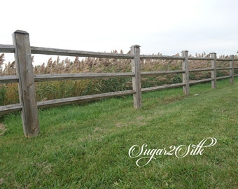 Country Farm Fence Print or Backdrop