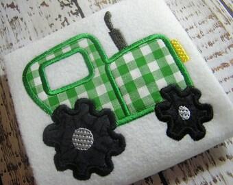 Applique tractor machine embroidery design, embroidery tractor, tractor machine embroidery design, appliqué design, embroidery design