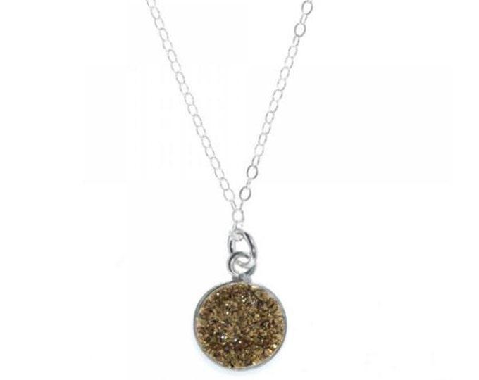12mm Copper Druzy Necklace