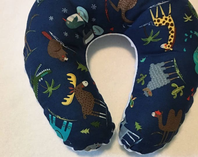 Jungle Animals Travel Neck Pillow for Children and Adults