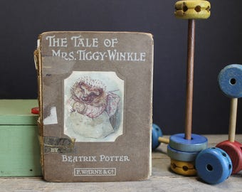 1905  First Edition Beatrice Potter The Tale of Mrs. Tiggy–Winkle Frederick Warne & Co.