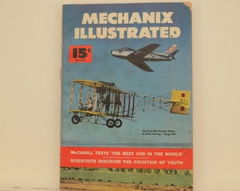 Mechanix Illustrated Magazine, August 1952 - Great Condition, Tips,  Science, Technology, Hundreds of Vintage Ads