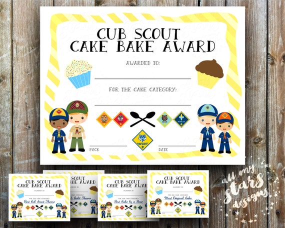 Cub scout cake bake award certificate pack 85x11 jpg cub scout cake bake award certificate pack 85x11 jpg blank printables includes 40 different categories blue gold cake auction yadclub Images