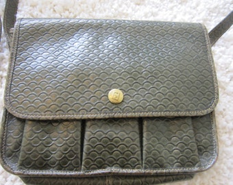 Fendi 70's Green Vintage Shoulder Bag