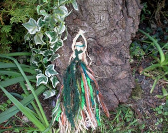 Handmade  Positively Pagan Earth Mother Corn Dolly Goddess doll.