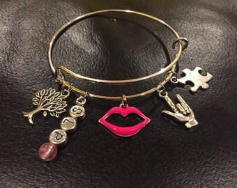 Speech Language Pathologist charm bracelet