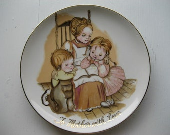 Vintage mother plate.  G and G of Japan.  Collectible plate.