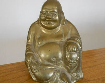 Brass Buddha figurine.  Collectible figure.