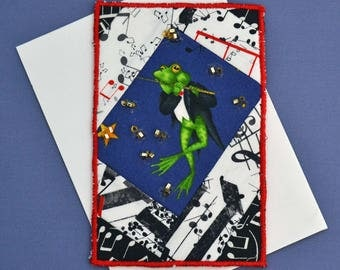 Any Occasion Musical Frog Graduation or Birthday Card