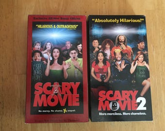 Lot of 2 Scary Movie 1 and 2  (VHS)