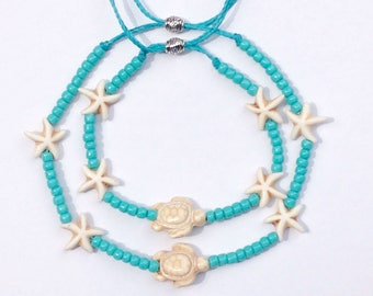 beach jewelry, sea turtle bracelet, beachcomber jewelry, beach bracelet