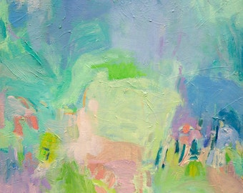 Ice Heaven - Modern Abstract Expressionistic Oil Painting