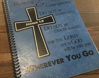 Mens Prayer Journal - Bible Journaling -Journal - Christian gift - Scripture Journal - Bible Study - Teen Prayer Journal *Blue Pictured*