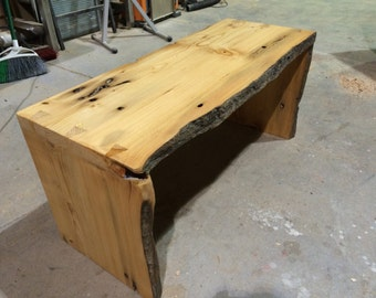 Salvaged Live Edge Doug Fir Dovetail Bench