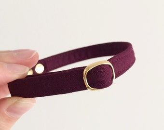 Burgundy Breakaway Cat Collar