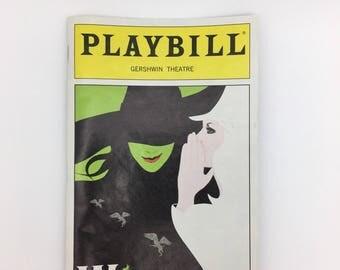 Wicked Playbill broadway show Gershwin Theatre