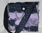 Rag Quilt Tote with Heart Appliques Pattern Digital Download by Sew Practical, Mom and Pop Craft