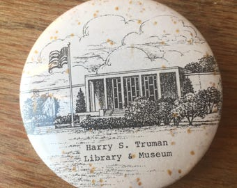 Vintage Harry S. Truman Library and Museum Pinback Button
